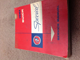 1961 GM Buick Special Service Shop Repair Workshop Manual OEM 1961 Worn ... - $12.86