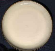 RARE HTF Sango China CAROUSEL-CHARCOAL Textured Coupe White Dinner Plate... - $24.74