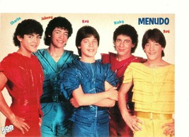 Menudo teen magazine pinup clipping 80's colorful shirts Ray Ricky Marti... - $3.50