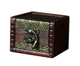 Special Pattern Square Wooden Jewelry Box Cosmetic Case