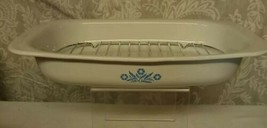 Corning Ware P-21 Blue Cornflower Open Roaster Baking Dish 13 x 9 x 2 IN - $11.99