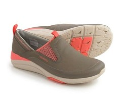 Merrell Applaud Moc Shoes - Leather, Slip-Ons Womens Brindle 9 M  - $55.37