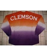 Clemson Tigers NCAA SEC Spirit Tie Dye Orange Purple Long Sleeves Appare... - $42.56