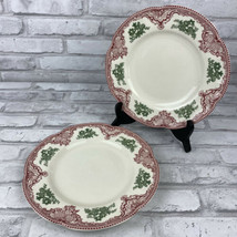"Johnson Brothers Old Britain Castles 9"" Dessert Bread Plates England Pin... - $17.41"