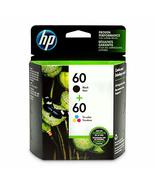 HP 60 | 2 Ink Cartridges | Black, Tri-color | CC640WN, CC643WN - $88.00