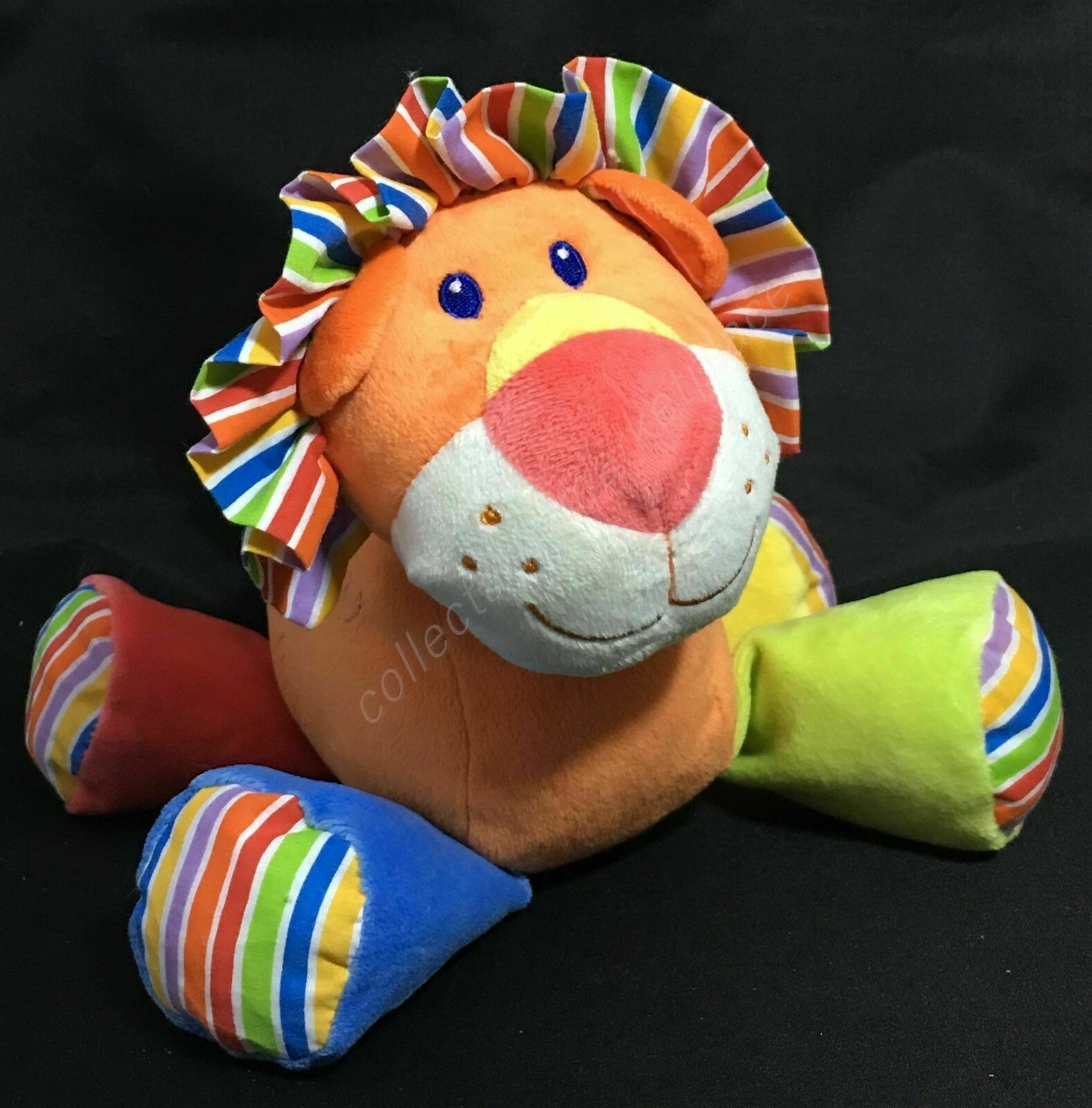 Primary image for First Impressions Lion Plush Stuffed Animal Toy Orange Sewn Eyes Soft