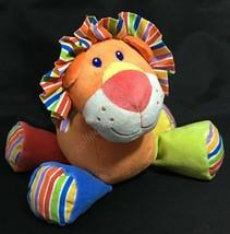 First Impressions Lion Plush Stuffed Animal Toy Orange Sewn Eyes Soft - $13.81