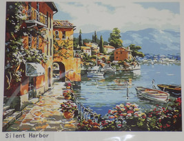 NEW Paint By Number Kit For Adults DIY Oil Painting Silent Harbor Canvas... - $11.83