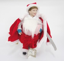 "Scotty Plays Santa 11"" Doll Ashton Drake Norman Rockwell Design in Origi... - $24.74"