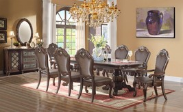 McFerran D3500 Traditional Brown Rich Wood Double Pedestal Dining Table ... - $3,220.50
