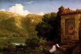 Il Penseroso Poetic Melancholy Woman Landscape Painting By Thomas Cole Repro - $10.96+