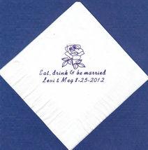 ROSE LOGO 50 Personalized printed cocktail beverage napkins image 5