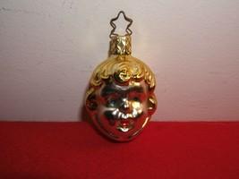 VINTAGE MERCURY GLASS ANGEL CHRISTMAS TREE ORNAMENT GERMANY - $4.90