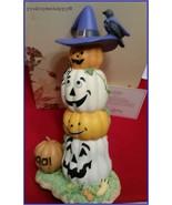 Lenox Halloween Happy Jack-O-Lanterns Pumpkin Porcelain Sculpture New in... - $89.10