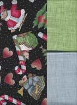 3 Fat Quarters Total, Daisy K Celebrate Socks Off Christmas, and 2 Match... - $19.97