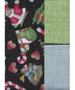 3 Fat Quarters Total, Daisy K Celebrate Socks Off Christmas, and 2 Matchd Prints - $19.97