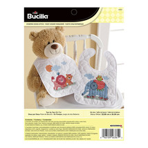 Bucilla - 'Two by Two' Stamped Cross Stitch Bib Pair Kit - 46361 - $23.99