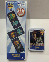 Disney's Toy Story 4 Jigsaw Puzzle In Collector's Tin And Dominos - $13.99
