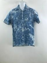 Men's Levi's blue acid washed denim short sleeve dress shirt Size M New tag - $26.99