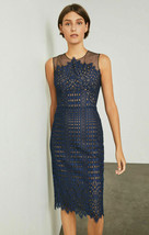 NWT BCBG MAX AZRIA $368 BELILA SHEER YOKE KNEE LENGTH LACE DRESS SZ 2 - $65.44