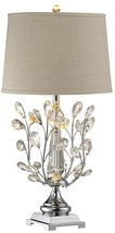 Table Lamp DALE TIFFANY BLOSSOM 1-Light Polished Chrome - €476,85 EUR