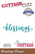 Blessings. Cottage Cutz Die. Card Making. Scrapbooking