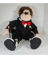 Build A Bear Brown Monkey Chimpanzee in Formal Wear Tuxedo Bowtie Shoes ... - $17.08