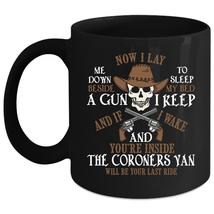 Now I Lay Me Down To Sleep Coffee Mug, Cool Coroners Coffee Cup - $21.99