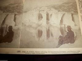 Vintage Stereoscope Card Aletsch Glacier Marjelen Lake Switzerland - $6.85