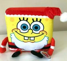 Spongebob Squarepants Christmas Cube Plush Toy 6'' tall. Licensed. NWT - $15.67