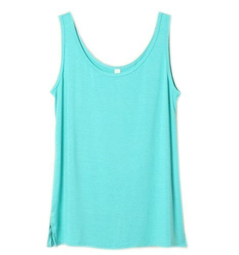 Simplicity Soft Zenana Women's Active Cami Camisole Cotton Basic Tank Top Blue