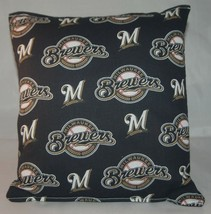 Brewers Pillow Milwaukee Brewers Pillow MLB Handmade in USA Pillow Baseball - $9.97