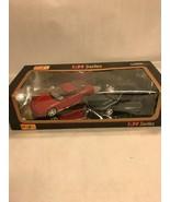 1:24 series Maisto Vintage Collectible die cast car 1 red 1 green pair 3... - $14.26