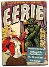 Eerie #3 Wally Wood monster cover-pre-code-1952- Avon Horror - $181.88