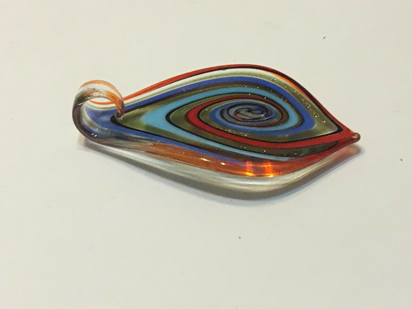 Hand Blown Glass Necklace Pendant ( Ref # 12-5 ) FREE SHIPPING