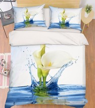 3D Pure Flowers Bed Pillowcases Quilt Duvet Cover Set Single Queen King Size AU - $90.04+