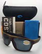 Polarized COSTA Sunglasses BLOKE BLK 103 Verde Teak on Black w/ 580 Grey Lenses
