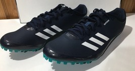 Adidas Authentic Women's Track Cleats Size 12 Running Sprintstar Navy - $69.29