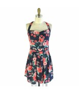 XS / S - Rifle Paper x Paper Crown Navy Floral Wildrose Fit & Flare Dres... - $48.00