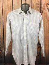 Robert Talbott Blue/Yellow Plaid And Checkered Mens Dress Shirt 16 1/2 35 - €16,96 EUR