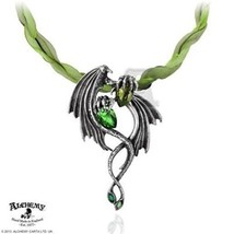 SteamPunk Victorian Cosplay Emerald Dragon Choker Necklace, NEW UNUSED - $76.34