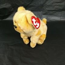 Ty Beanie Zodiac Collection Dog 7 inch Plush Stuffed Animal Toy Tan Hang... - $9.89