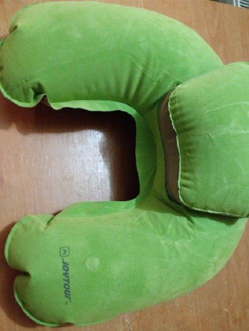 Travel Pillow Inflatable Neck Pillow U Shape Blow Up Neck Cushion PVC Flocking
