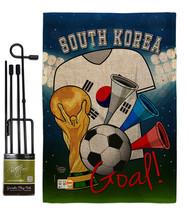 World Cup South Korea Soccer Burlap - Impressions Decorative Metal Garde... - $33.97