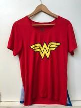 DC Comics Wonder Woman Size Medium Women's T-shirt Top attached Cape - $19.95
