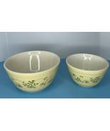 Vintage 1981  Pyrex 401 and 402 yellow Shenandoah Ivy Mixing Bowls-  Lot... - $27.67