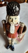 Nutcracker Toysoldier Ceramic Plant Holder 11x6.5 - $21.20 CAD