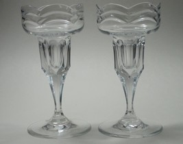 CUT GLASS pair  candle sticks Waterford - $45.47