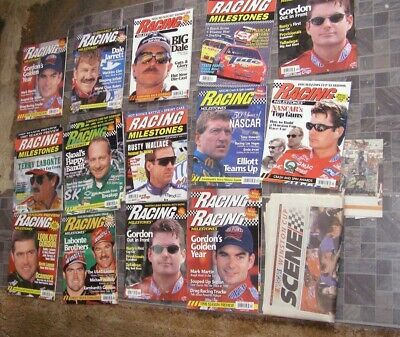 Primary image for Racing Milestones NASCAR Magazine Lot 1996 1997 Nascar Winston Cup Scene Lot