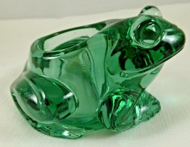 VINTAGE INDIANA GLASS~ FROG~candle Holder - Spanish Green               ... - $13.85